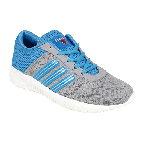 Grey/Sky Synthetic Sport Shoe
