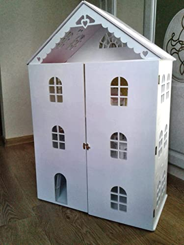 Amazon Com Wooden Dollhouse With Doors Dollhouse With Furniture