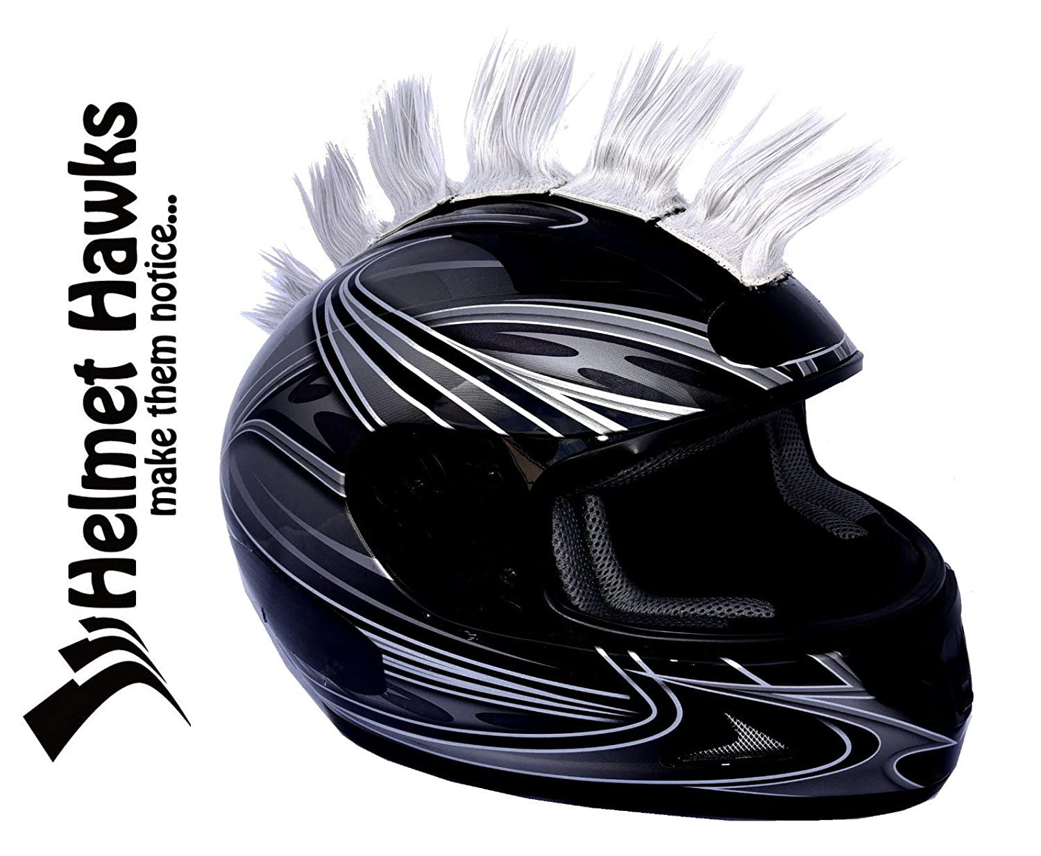 Helmet Hawks Motorcycle, Ski, Snowboard Mohawk w/Sticky Hook and Loop Fastener Adhesive (8) Hair Patches 2' long x 3' Tall- Forest Green Snowboard Mohawk w/Sticky Hook and Loop Fastener Adhesive (8) Hair Patches 2 long x 3 Tall- Forest Green CaliBikerClub