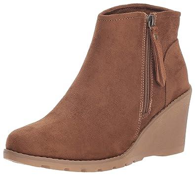 fda7ef54ee8 Skechers BOBS Women s Tumble Weed. Side Zip Wedge Bootie w Memory Foam Ankle  Boot