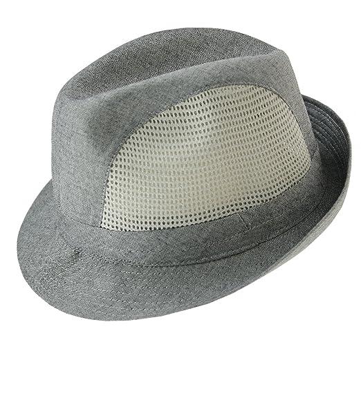 ee6e2615f4b9 EveryHead Fiebig Sombrero De Mujer Tela Lino Fedora Verano Equinácea ...