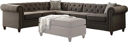 ACME Aurelia II Charcoal Linen Sectional Sofa Review