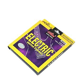 Juego de 6 cuerdas para guitarra eléctrica profesional, núcleo de acero, aleación de níquel, calibre 10-46, para 22 a 24 trastes: Amazon.es: Instrumentos ...