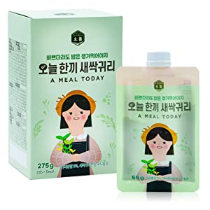 Wheat Sprout Oatmeal Powder Shake [ Korean Foods ] High Protein Superfood, Misugaru Breakfast Latte Substitute, High Fiber, No Trans Fat [ JRND Foods ] 5 Pouches