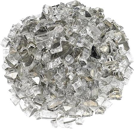 "Size 2 Gray Reflective Fire Glass  1//4/"""