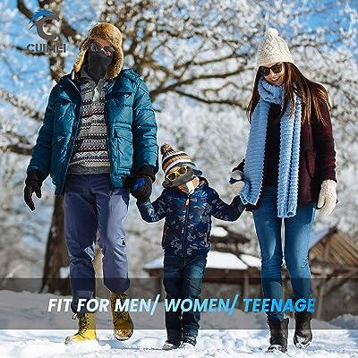 Fleece Neck Warmer Gaiter Windproof Face Cover fr Men Women Outdoor Ski Running