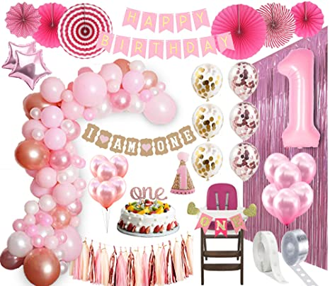 1st Birthday Girl Decorations