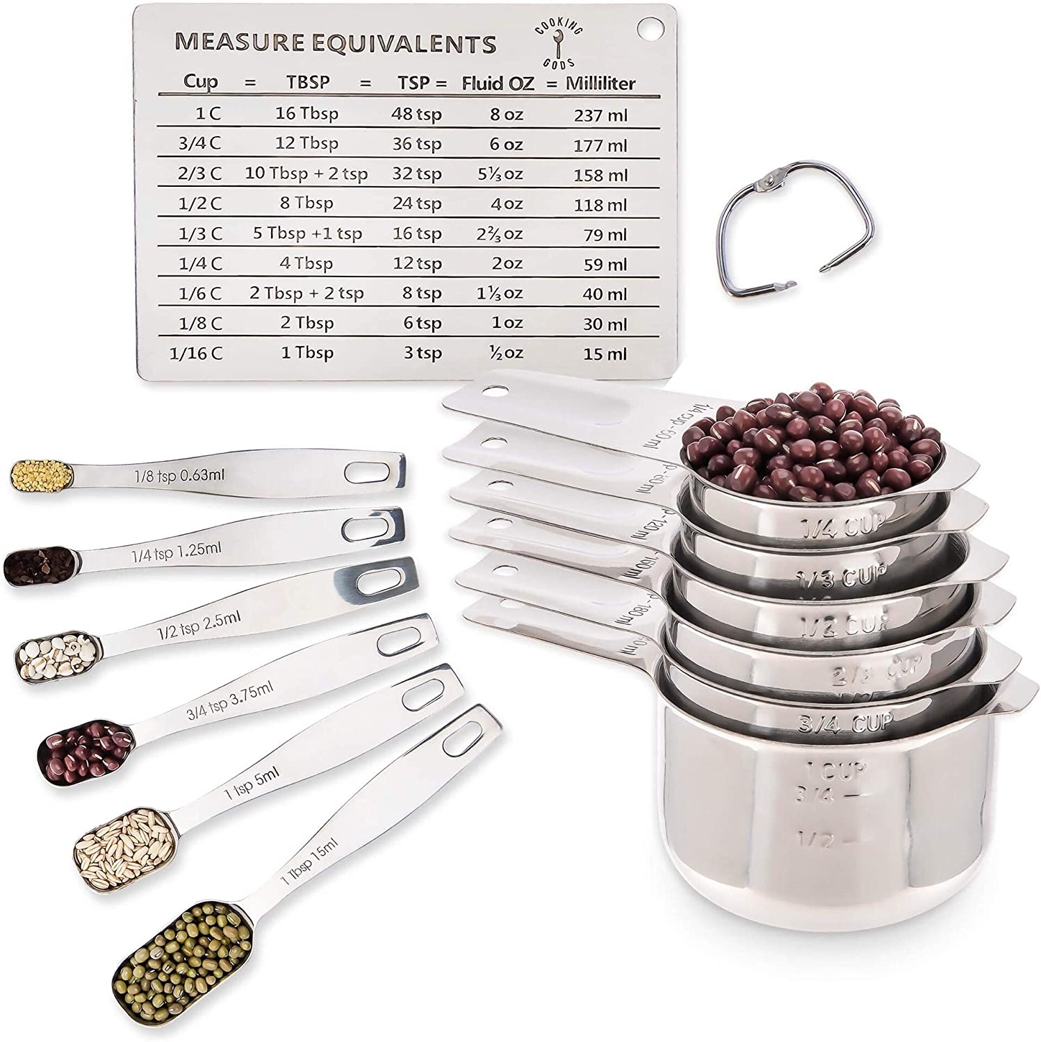 Amazon Com Stainless Steel Metal Metric Measuring Cups And
