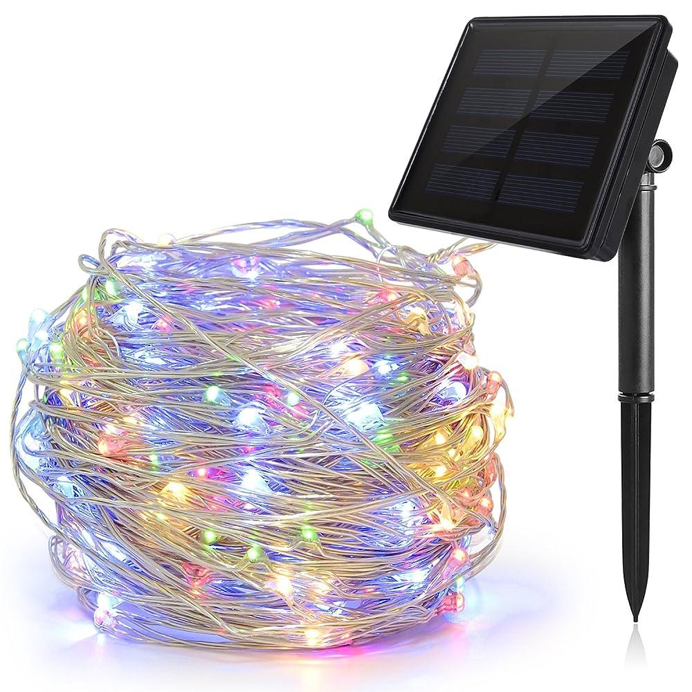 Catena luminosa di 200 LED da 22 metri ad energia solare impermeabile con luci multicolore