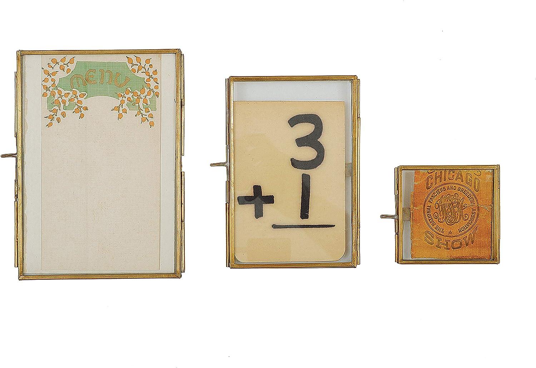 Creative Co-op 4 x 6 Brass /& Glass Photo Frame