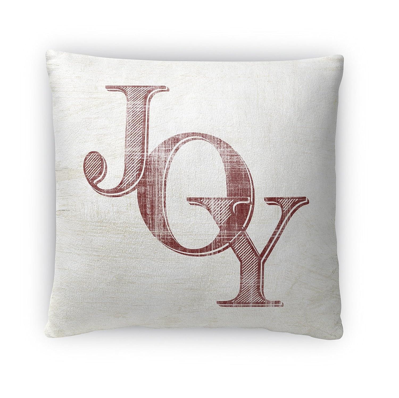 Ivory//Red Size: 16x16x4 - KAVKA Designs Joy Fleece Throw Pillow, - TELAVC049FBS16
