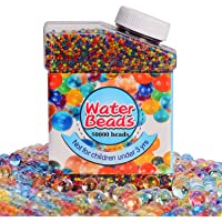 Crystal Gel Water Beads Pack (50000 beads) Rainbow Mix Jelly Water Growing Balls for Kids Tactile Sensory Toys, Orbeez refill,Vases Filler, Plants, Wedding and Home Decoration
