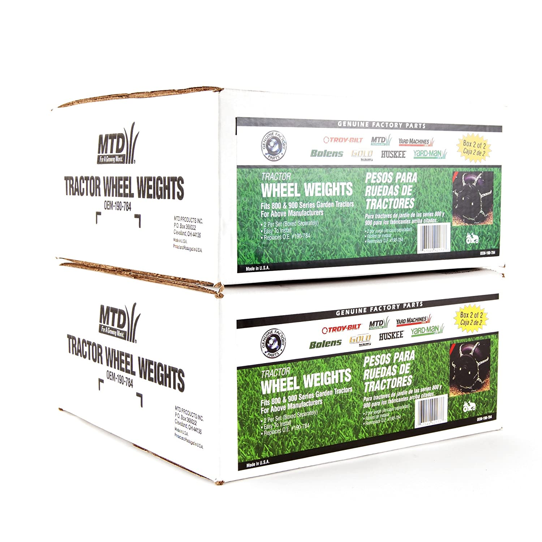 Amazon.com : MTD Genuine Parts 100lb Wheel Weight Set : Agricultural Machinery : Garden & Outdoor