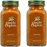 Simply Organic Turmeric Powder, 2.38 Oz - Pack of 2