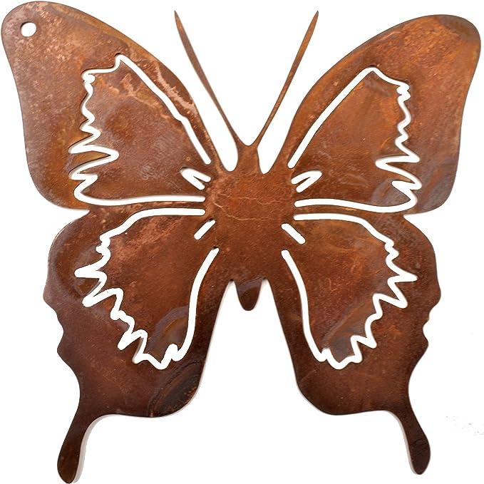 Schmetterling aus Rost-Metall groß 14 x 15 cm