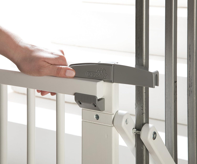 Barri/ère de s/écurite pivotante pour escalier Geuther EASYLOCK 2733+ Blanc 67 cm