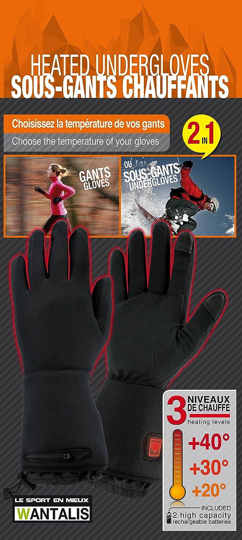 d19d905db9848 Wantalis Sancy Gants Mixte Adulte, Noir, FR (Taille Fabricant : XXS-XS):  Amazon.fr: Sports et Loisirs