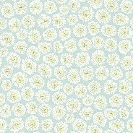 Aqua Green 213715 Wind Flowers Chika Sanderson Wallpaper: Amazon.co.uk: Kitchen & Home