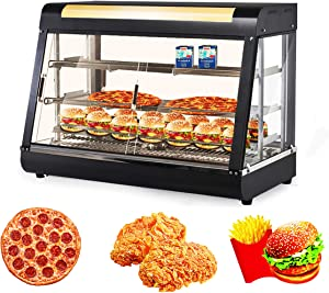 Ankishi 35-Inch Commercial Food Warmer Display, Countertop Food Warmer Display Cases, 3 Tier Food Showcase, Restaurant Heated Cabinet, Pizza Warmers Pastry Display Case