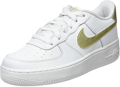 air force 1 donna nere e oro