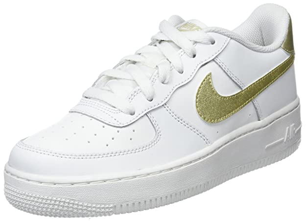 nike air force 1... scarpe bianche / metallico vertice