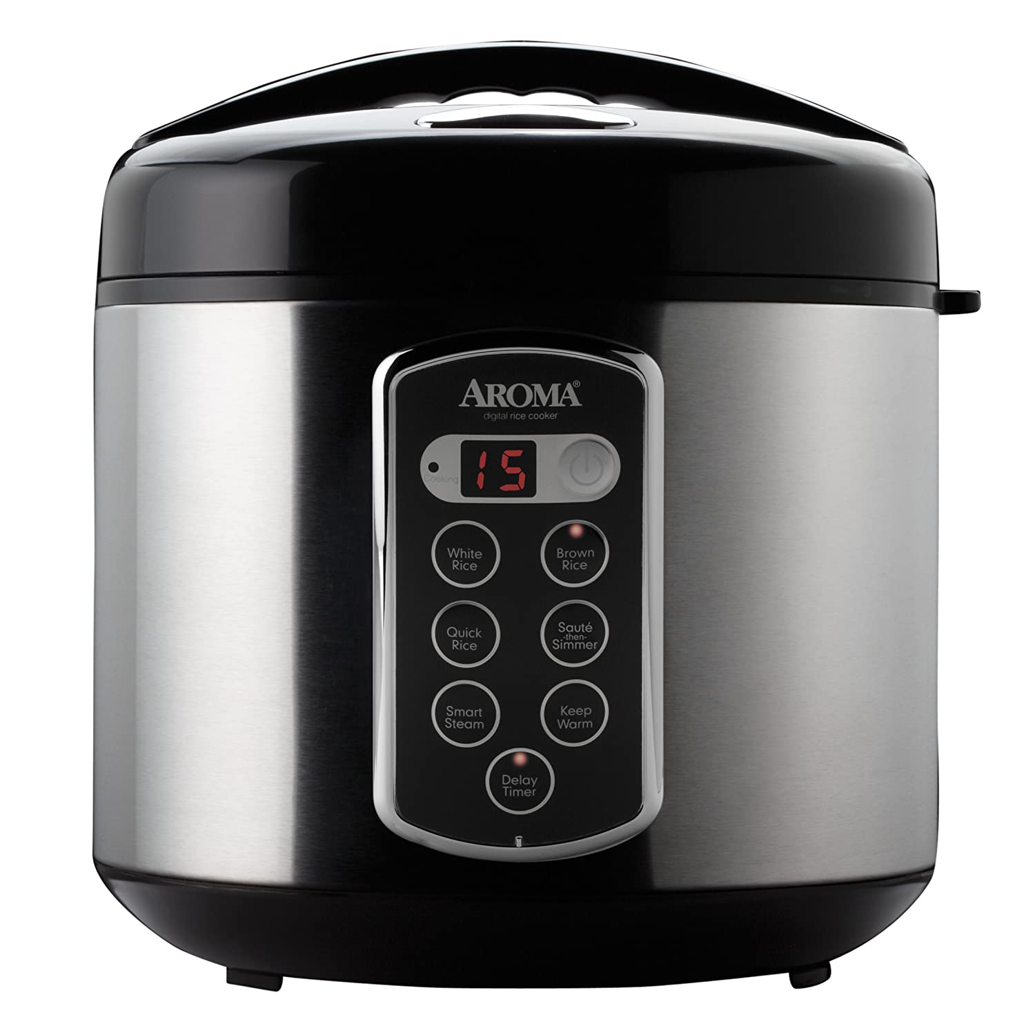 Aroma ARC-2000SB 20-Cup, Cooked Sensor Logic Rice Cooker and Food Steamer Aroma Housewares