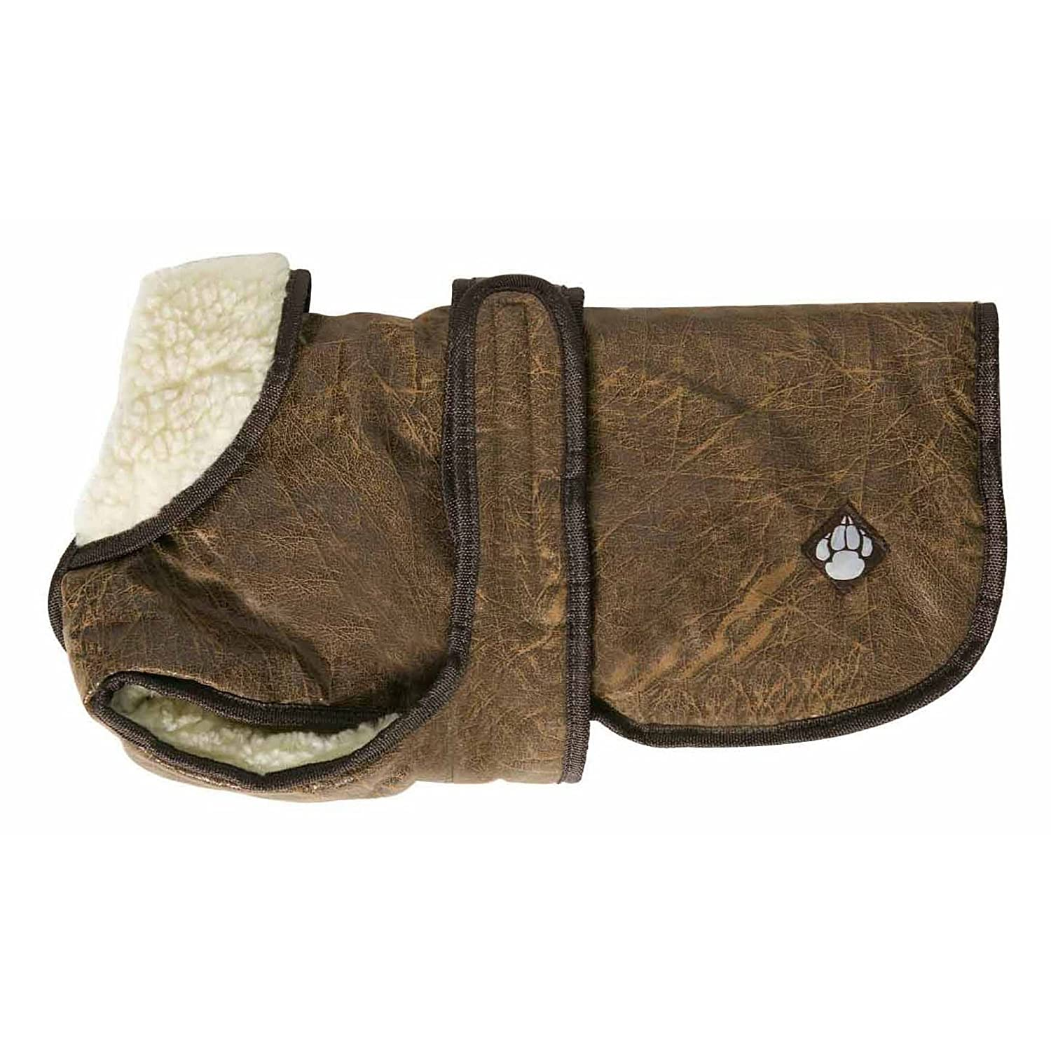 Brown 21.6in Brown 21.6in Danish Design Pet Products Waggles Dog Coat (21.6in) (Brown)