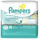 Amazon Price History for:Pampers Sensitive Wipes 3 Travel Pack 56 Wipes Each (168 Count)