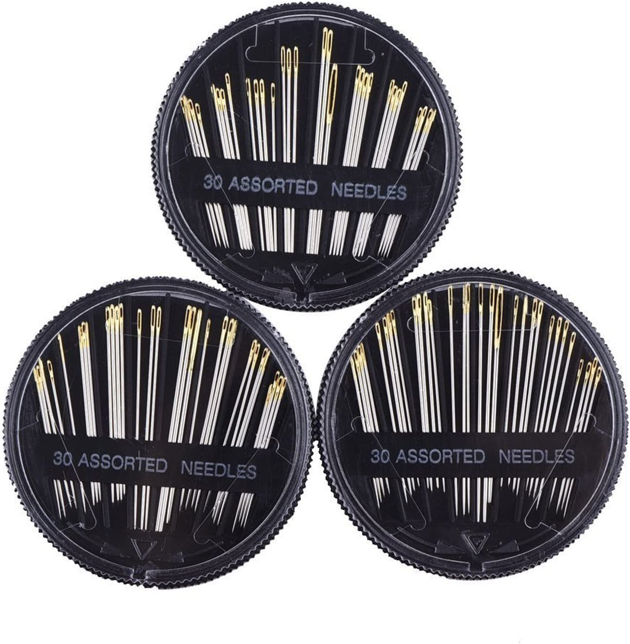 60 Count Assorted Sizes Embroidery Mending Craft Quilt Handle Sewing Needle Set with Srorage Case Hand Sewing Needles