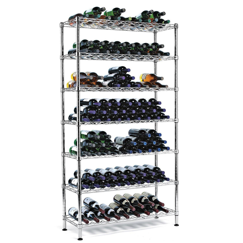 Wine Enthusiast steel Pantry Wine Rack (126 Bottles)