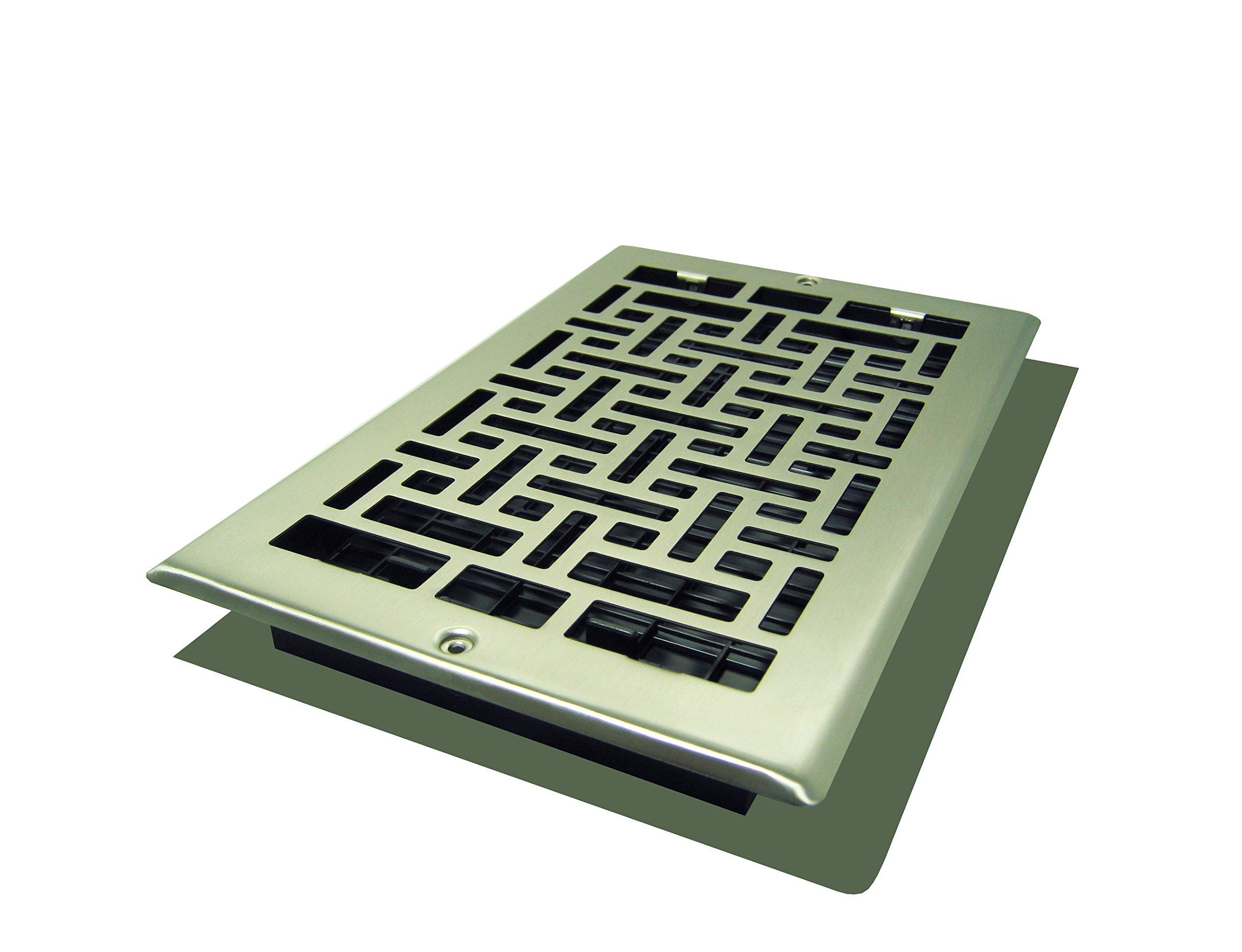 Decor Grates AJL610W-NKL Oriental Wall Register, 6-Inch by 10-Inch, Nickel