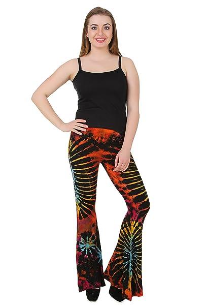 8ca2b14f9d Women's Yoga Pants Tie Dye Rainbow Wide Leg Bell Bottom Palazzo Beach Wear  Ladies Tie Dye