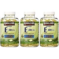 Kirkland Signature, Vitamin E 400 IU 500 Softgels fvKDn (Pack of 3)