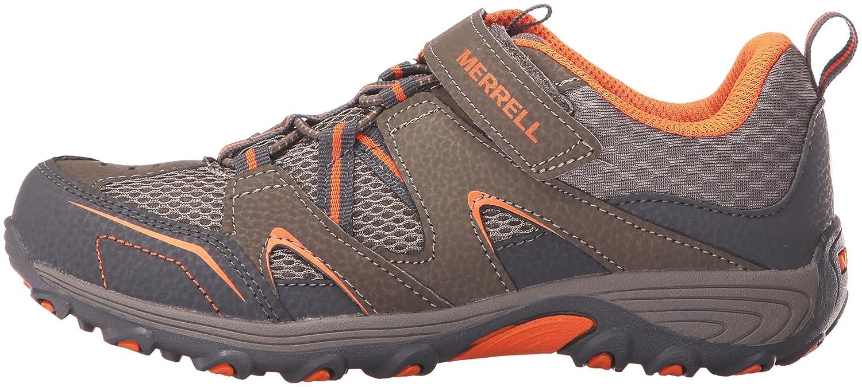 Merrell Boy's Trail Chaser Shoes, Gun/Org, 2.5 M US Little Kid Trail Chaser Hiking Shoe