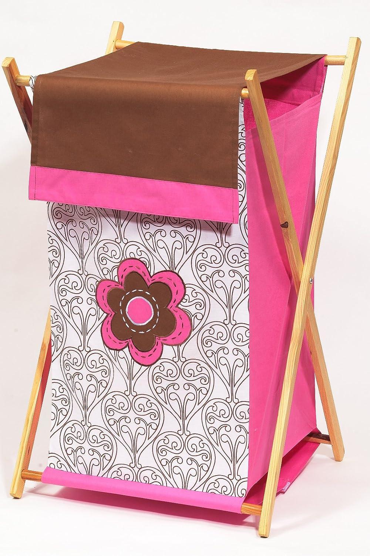 List price Cheap Bacati - Damask Chocolate Hamper Pink