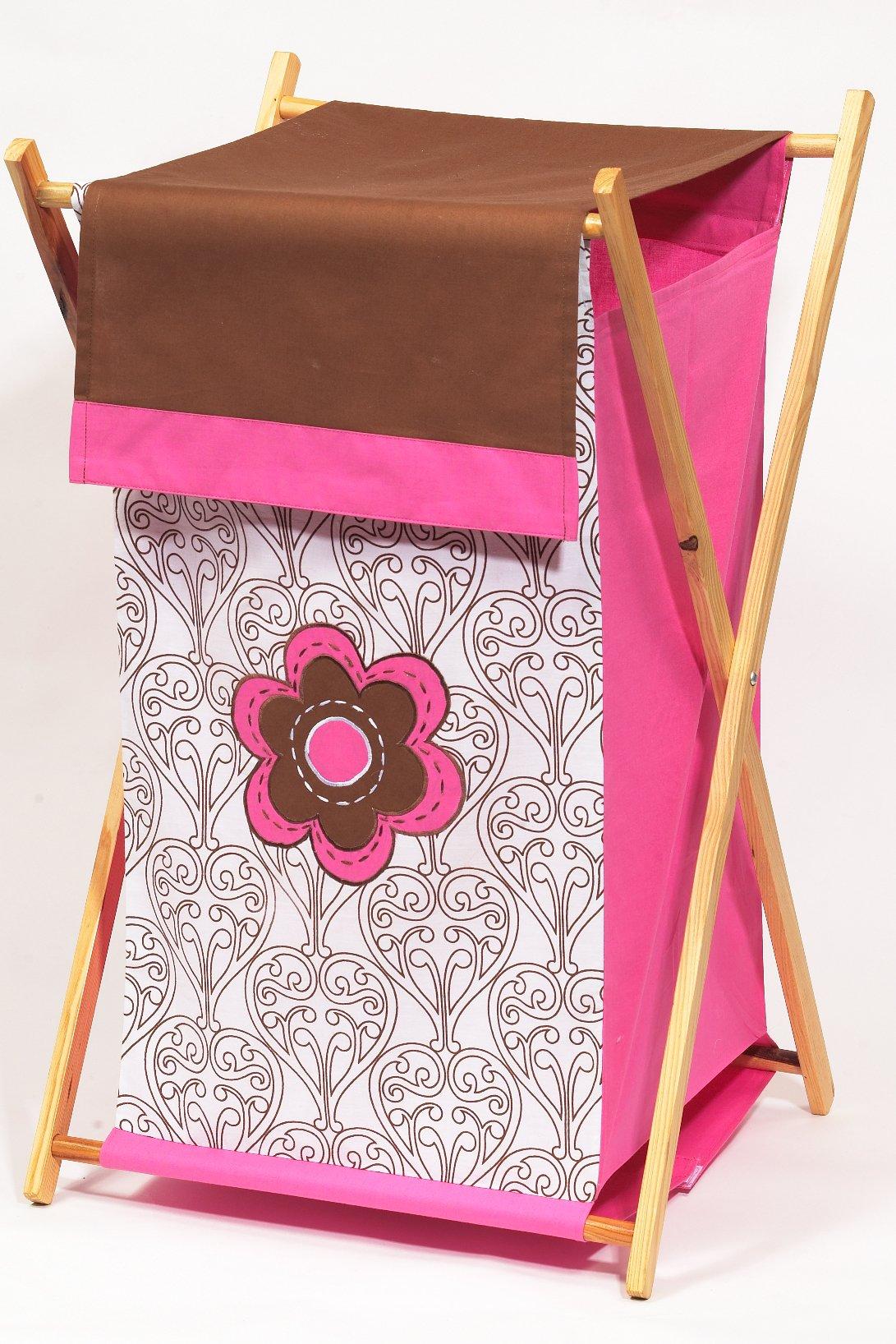 Bacati - Damask Pink/chocolate Hamper by Bacati (Image #1)