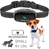 Small Dog Bark Collar For Tiny To Medium Dogs by BARKLO Rechargeable And Waterproof Vibrating Anti Bark Training Device - Smallest & Most Safe On Amazon - No Shock No Spiky Prongs! ( 6+ lbs )