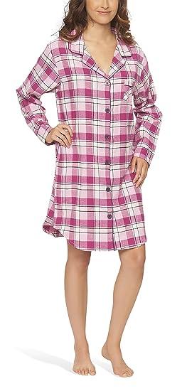new concept d9d81 ff397 Moonline Flanell-Nachthemd Nachtkleid Nachtwäsche Sleepshirt für Damen