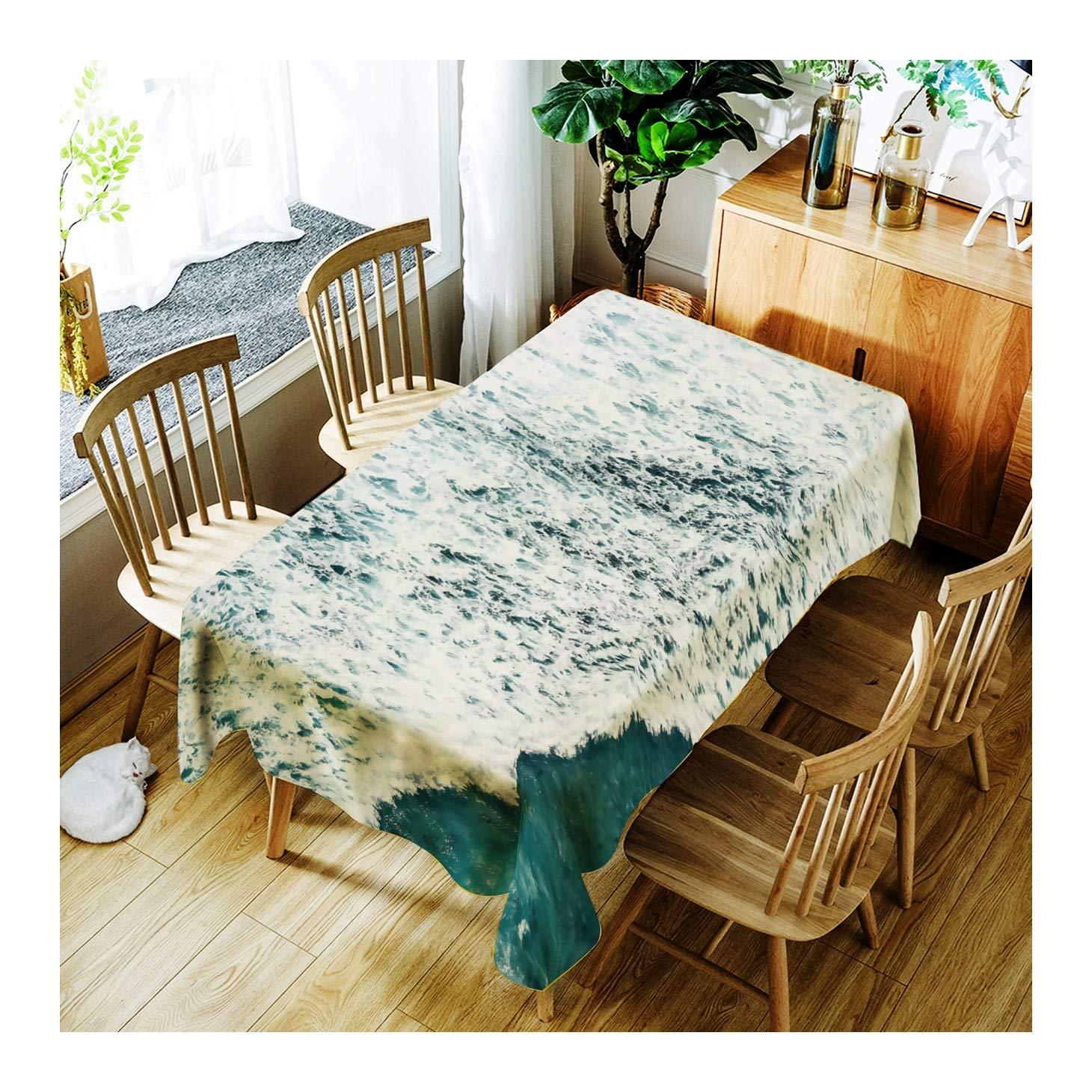 ZHAOXIANGXIANG Lavable Minimalista Elegante Table Estera Hermoso Patrón De Onda Decoracion Un Mantel,140Cmtimes;280Cm