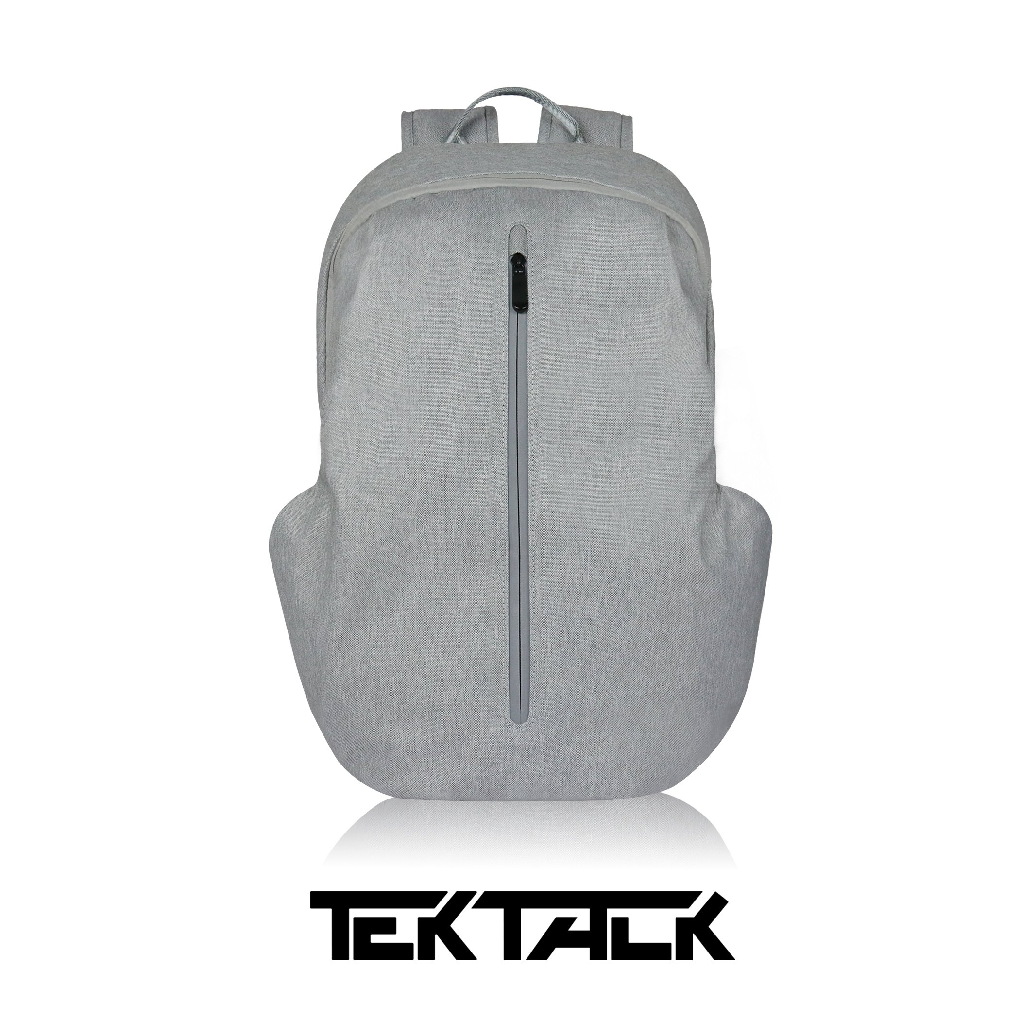 Tektalk Business Anti-theft Multifunctional Laptop Backpack, with USB Cable and Coded Lock, Durable & Lightweight, Suitable for Laptops up to 15.6 inches, for School / Travel / Work (Light Gray)