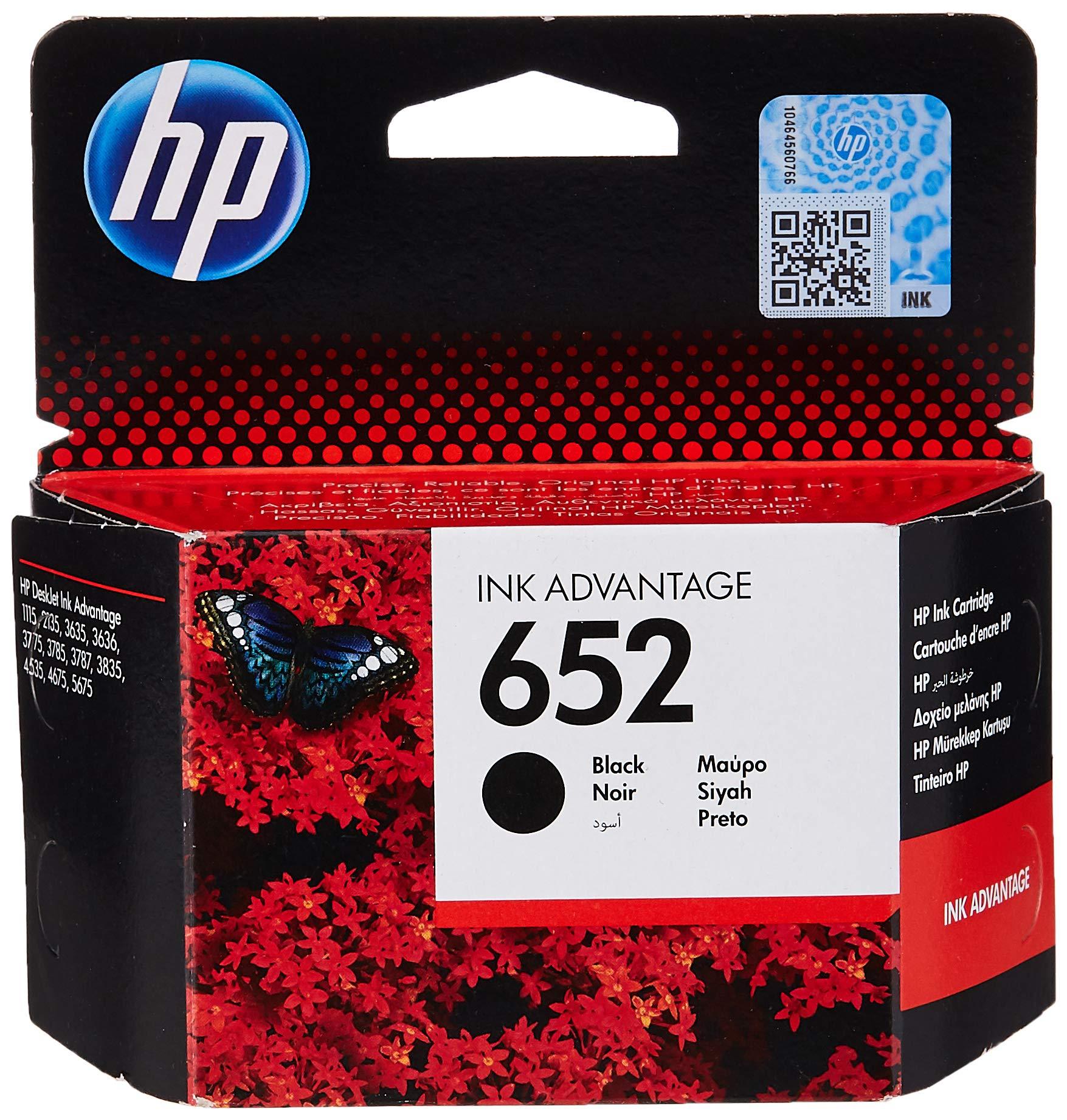 HP F6V25AE 652 Black Ink Cartridge
