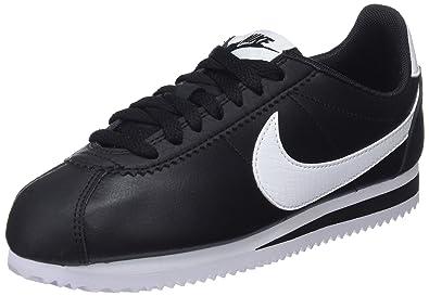 7026099d7d51a Nike Women's WMNS Classic Cortez Leather Gymnastics Shoes, Black/White 016,  4 UK
