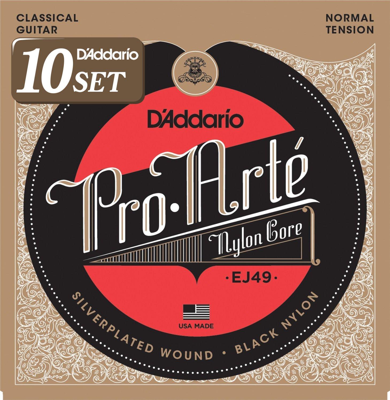 D'Addario ダダリオ クラシックギター弦 プロアルテ Silver/Black Normal EJ49 x 10セット 【国内正規品】 B009RIJUDO  Normal