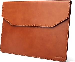 Kasper Maison 15 inch Premium Leather Laptop Sleeve for MacBook Pro 2016-2020 - Tan