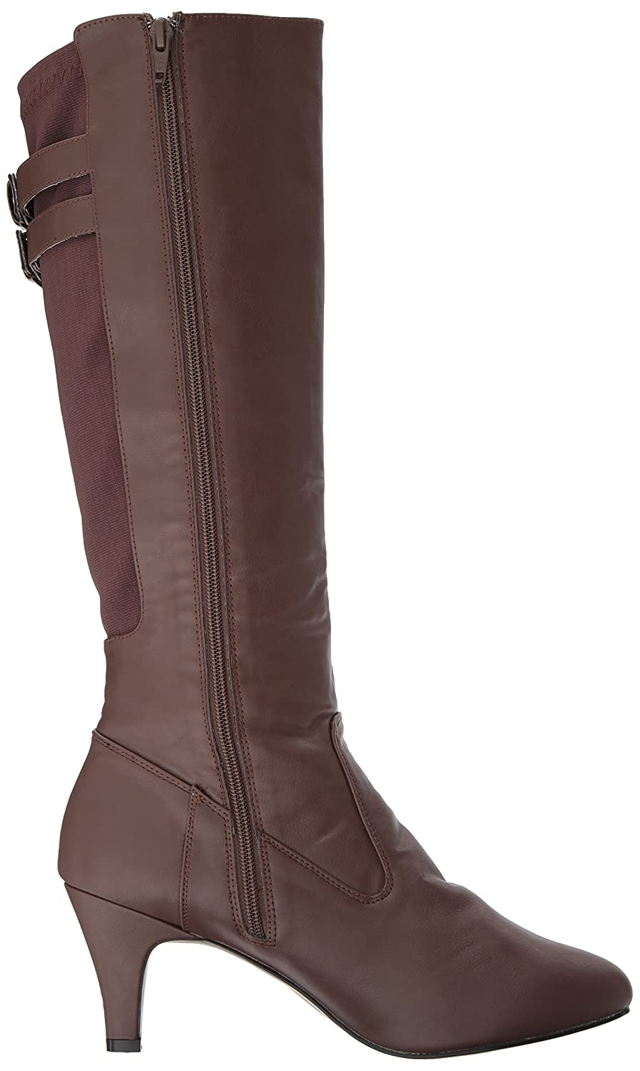 Brown Faux Leather, Pleaser Pink Label Womens Div2018//Bnpu Boot