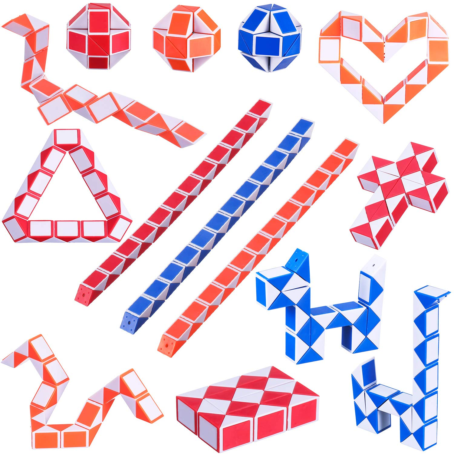 Puzzles & Games Toys & Hobbies Funny Professional Speed Snake Shape Magic Cube Toys Game Twist Puzzle Toys Gift For Kids Random Delivery