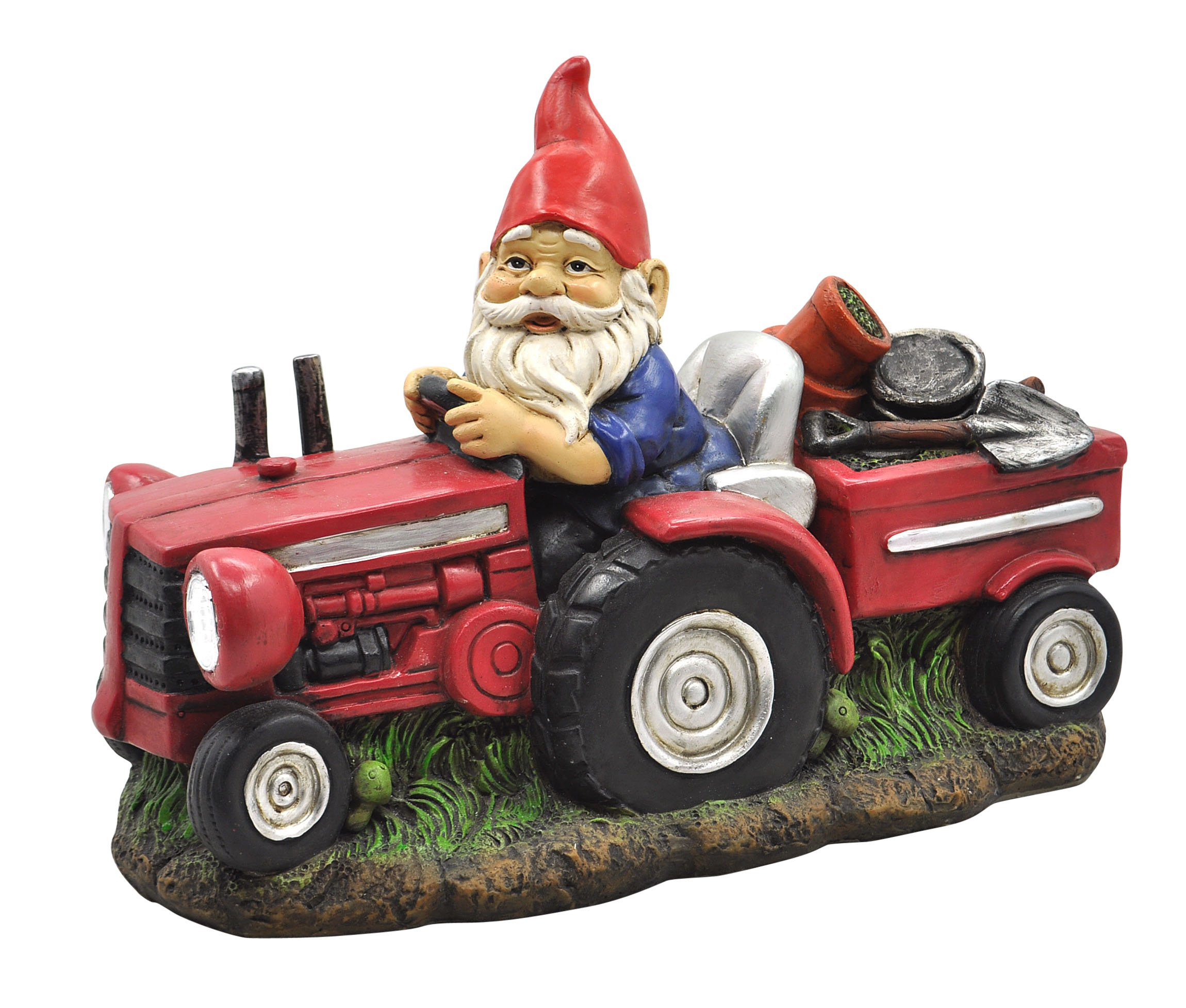 Moonrays 92376 Solar Powered White LED Farmer Gnome