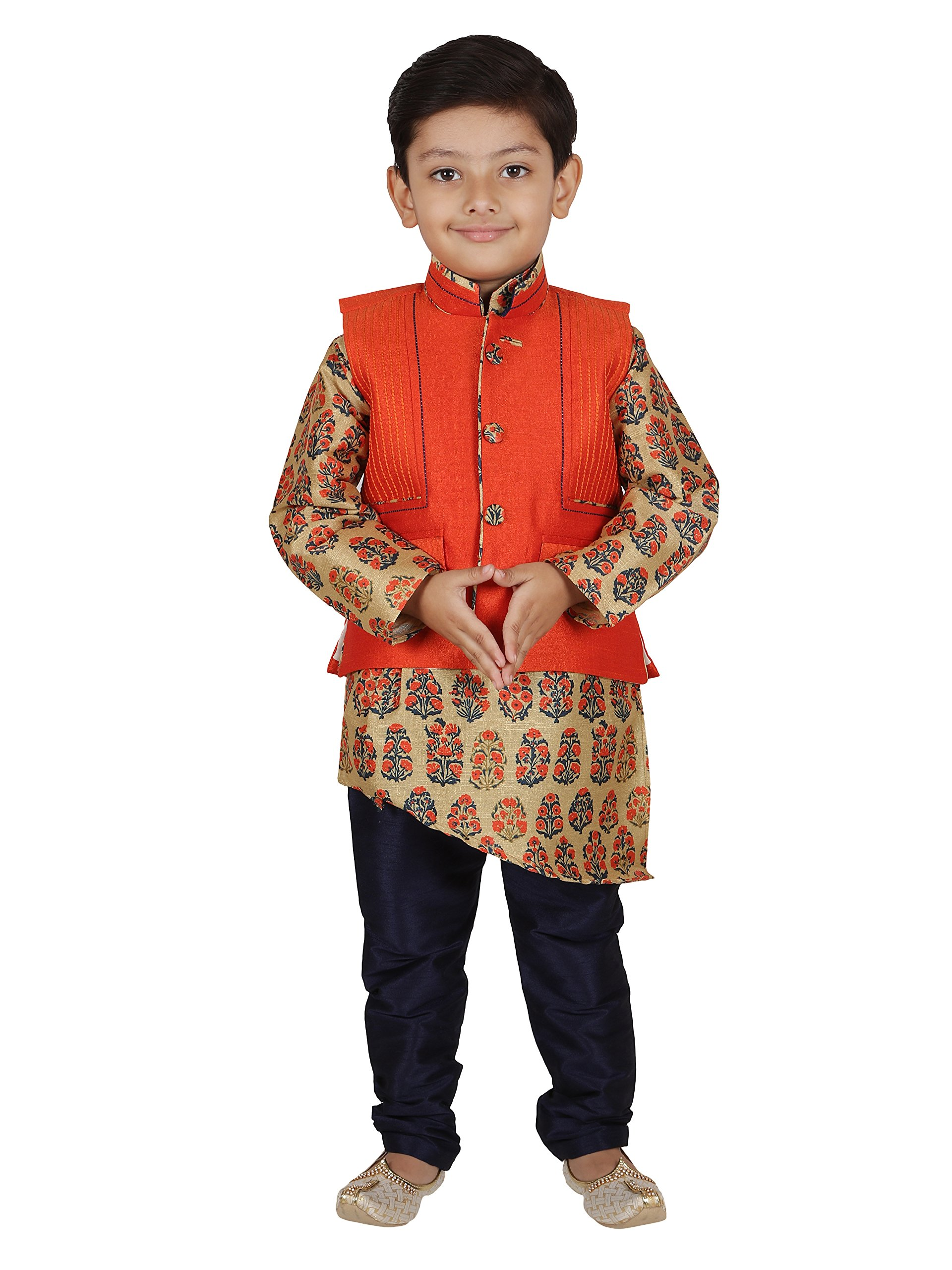 AJ Dezines Kids Indian Wear Bollywood Style Kurta Pyjama Waistcoat for Baby Boys by AJ Dezines (Image #1)
