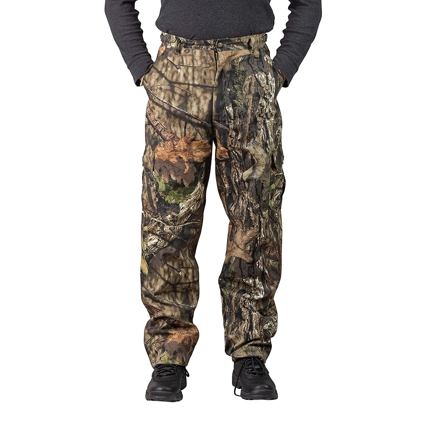 abe2b9d768e23 TrailCrest Men's Camo Hunting Cargo Pants | 6 Pockets | Mossy Oak Break-Up  Country