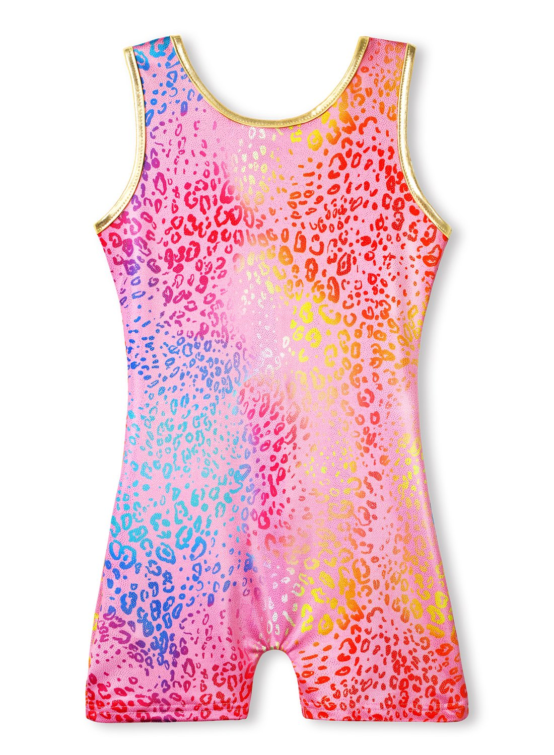 Pink Leotards for Girls Gymnastics Size 6-7 Years Old Sparkles Print Dance wear by HOZIY